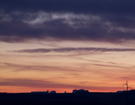 Monument Valley from White Mesa at Sunset