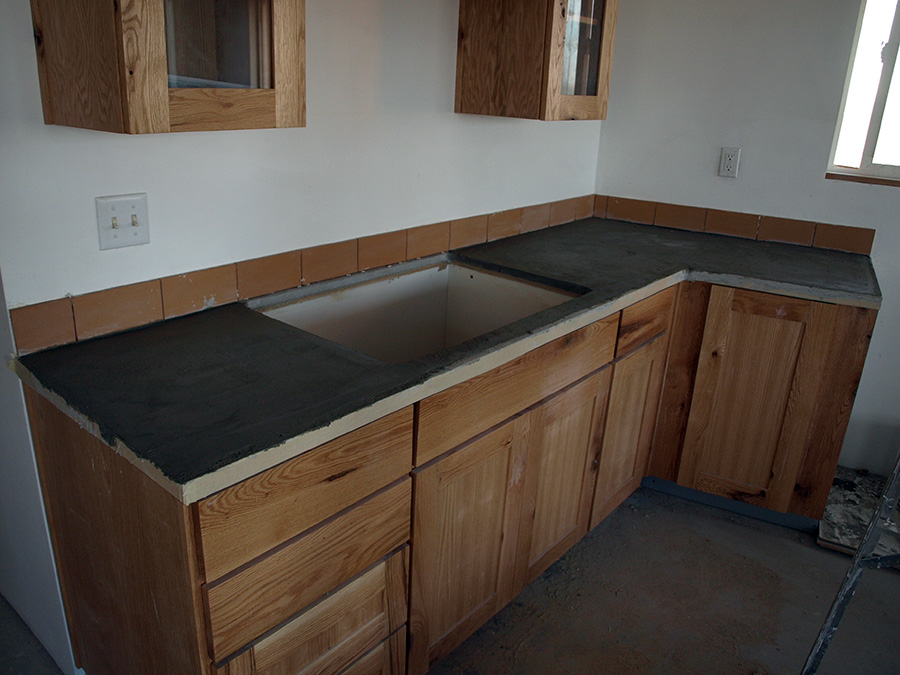 Kitchen counter, ready for sink install