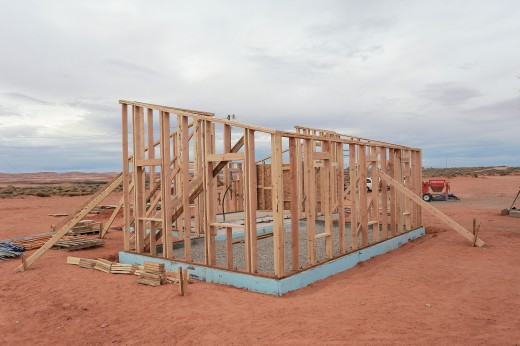 All the exterior walls are up!